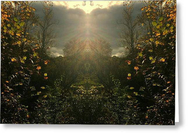 And Then The Heavens Opened Greeting Card by Scott D Van Osdol