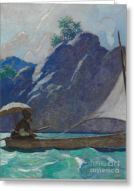 And Thus I Every Now And Then Took A Little Voyage Upon The Sea Greeting Card by Newell Convers Wyeth