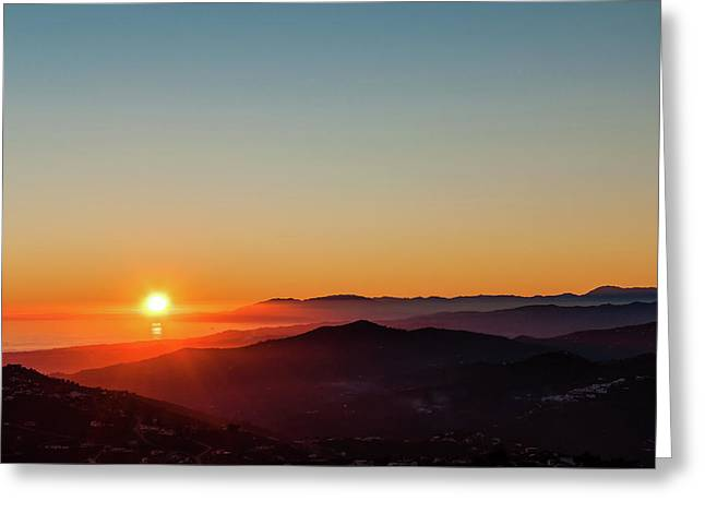 Andalucian Sunset Greeting Card