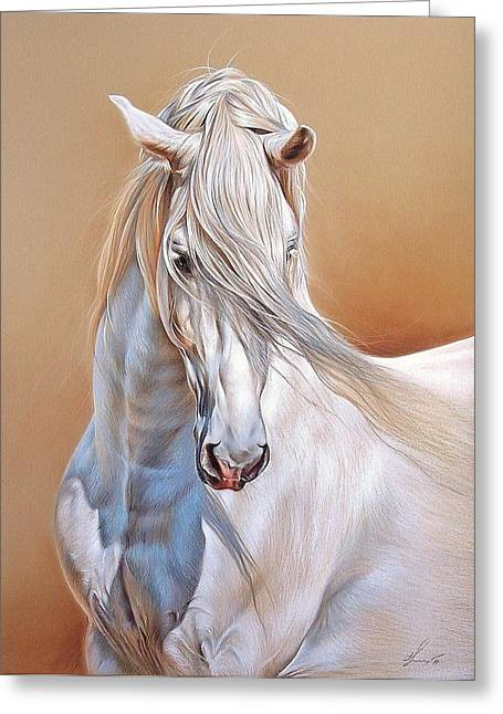 Andalusian Greeting Card by Elena Kolotusha
