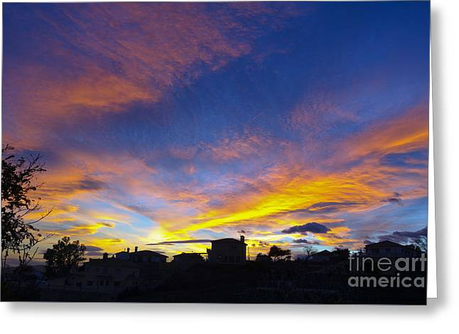 Andalusian Sunset Greeting Card by Perry Van Munster