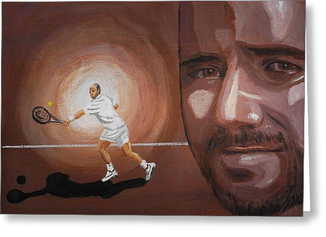Andre Agassi Greeting Card by Quwatha Valentine