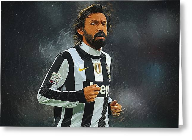 Andrea Pirlo Greeting Card by Semih Yurdabak