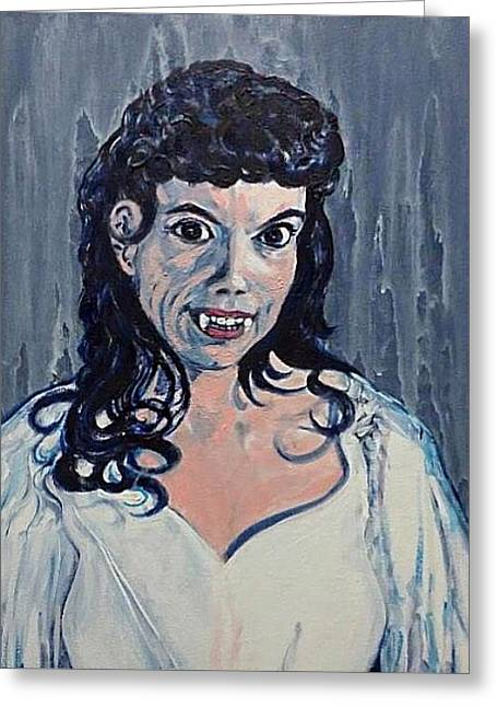 Andree Melly As Gina In The Brides Of Dracula  Greeting Card