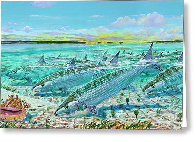 Andres  Bonefishes In0032 Greeting Card