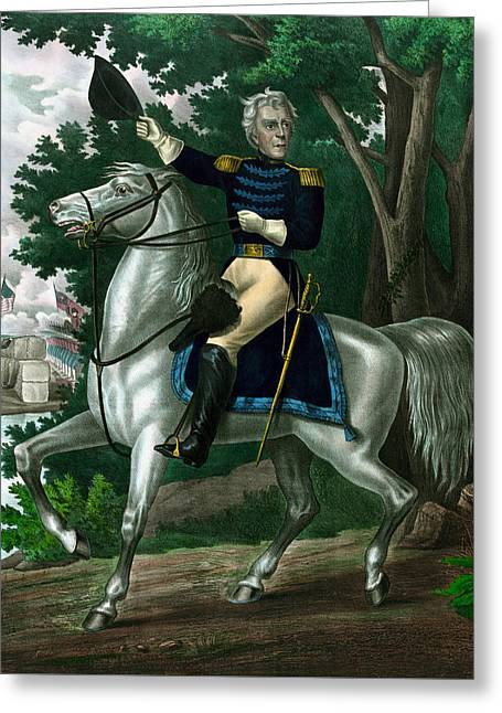 Andrew Jackson On Horseback Greeting Card by War Is Hell Store