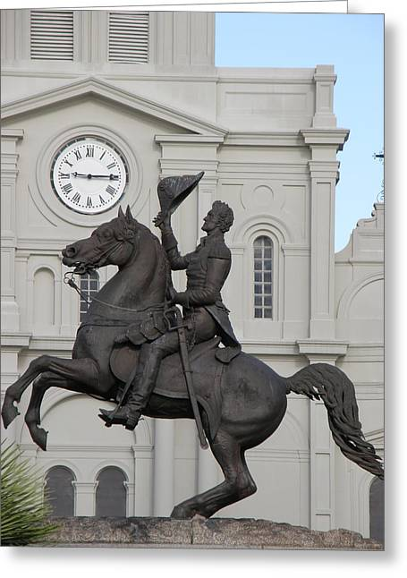 Andrew Jackson Statue Greeting Card by Jack Herrington