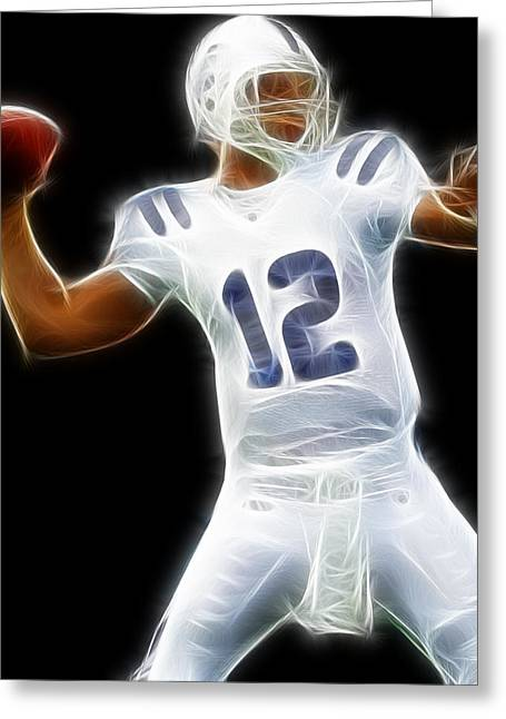 Andrew Luck Greeting Cards - Andrew Luck - Indianapolis Colts Quarterback Greeting Card by Paul Ward