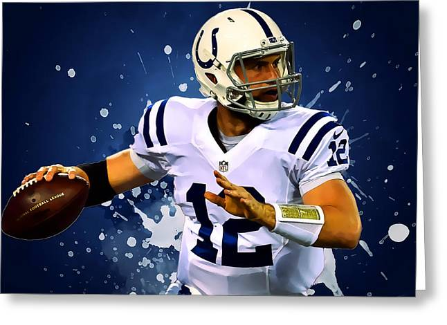 Andrew Luck Greeting Card