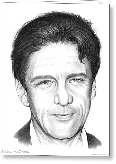 Andrew Mccarthy Greeting Card by Greg Joens