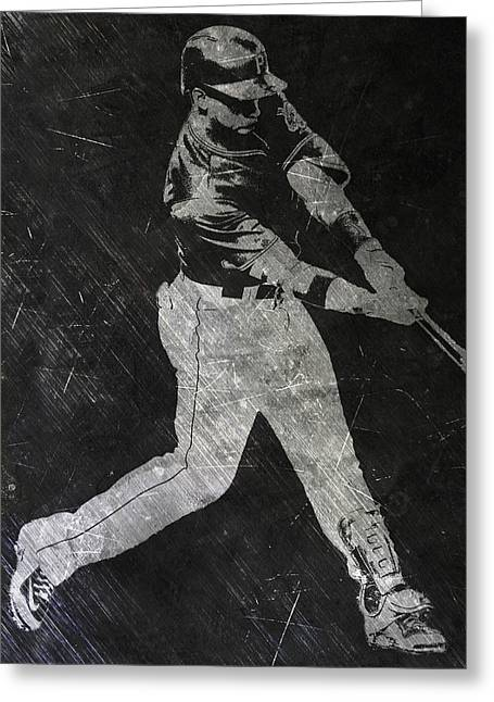 Andrew Mccutchen Pittsburgh Pirates Art Greeting Card by Joe Hamilton