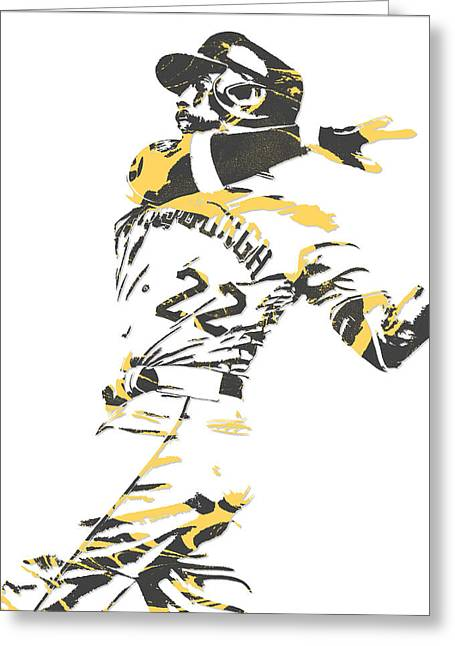 Andrew Mccutchen Pittsburgh Pirates Pixel Art 1 Greeting Card