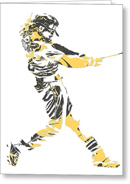 Andrew Mccutchen Pittsburgh Pirates Pixel Art 2 Greeting Card