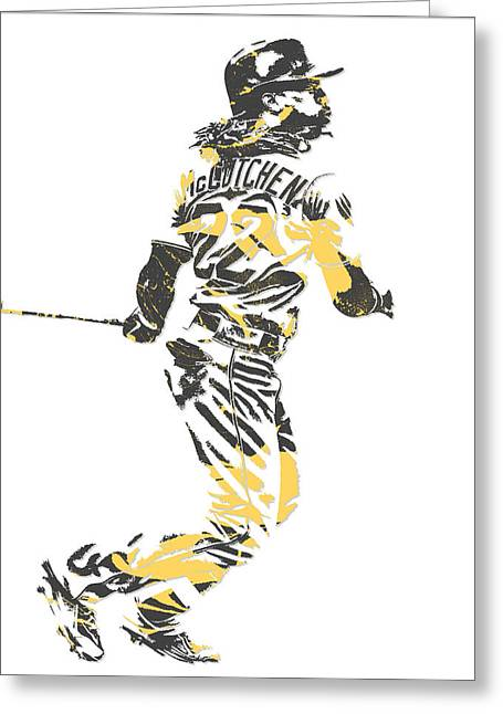 Andrew Mccutchen Pittsburgh Pirates Pixel Art 4 Greeting Card
