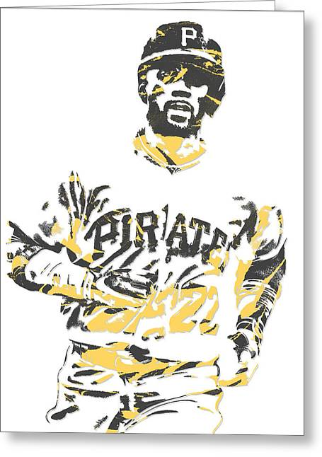 Andrew Mccutchen Pittsburgh Pirates Pixel Art 5 Greeting Card