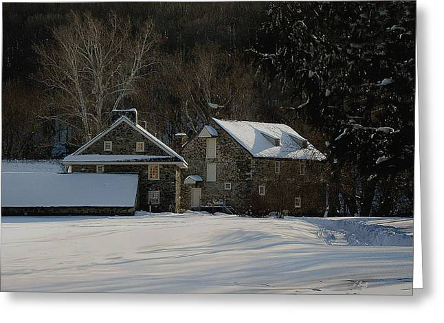 Andrew Wyeth Estate In Winter Greeting Card by Gordon Beck