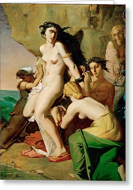 Andromeda Chained To The Rock By The Neireids Greeting Card by Theodore Chasseriau