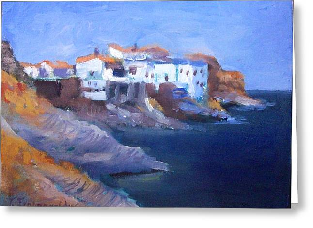 Andros Island Greeting Card by George Siaba