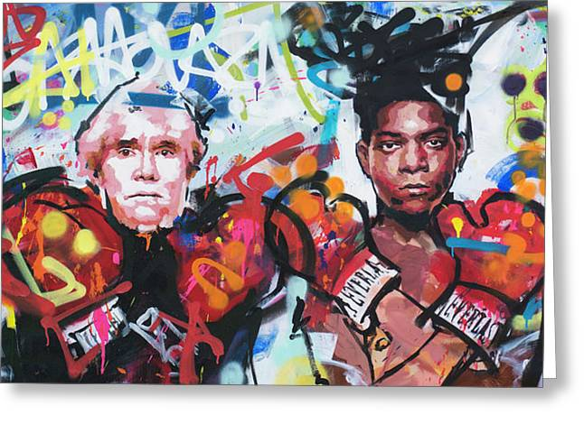 Andy Warhol And Jean-michel Basquiat Greeting Card