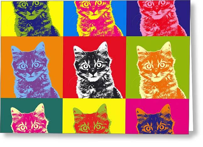 Andy Warhol Cat Greeting Card