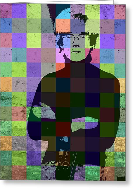 Andy Warhol Hollywood Pop Art Patchwork Portrait Pop Of Color Greeting Card