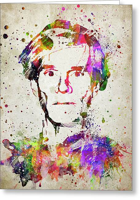 Andy Warhol In Color Greeting Card by Aged Pixel