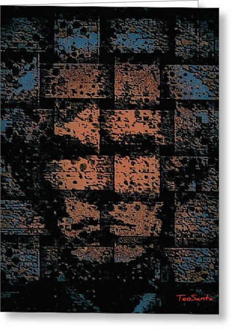 Andy Warhol Weave   Series   Greeting Card by Teodoro De La Santa