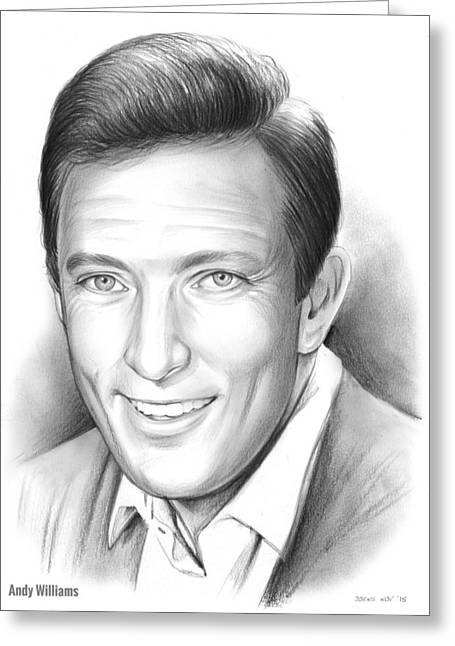 Andy Williams Greeting Card by Greg Joens
