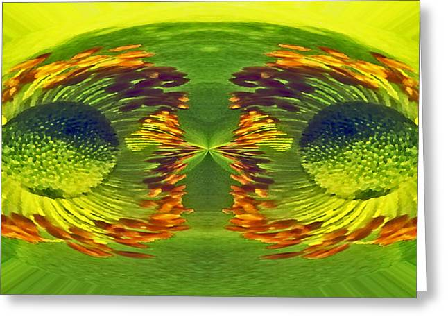 Anemone Eyes. Greeting Card by Terence Davis
