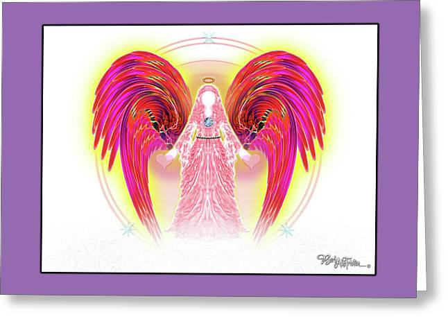 Greeting Card featuring the digital art Angel #199 by Barbara Tristan