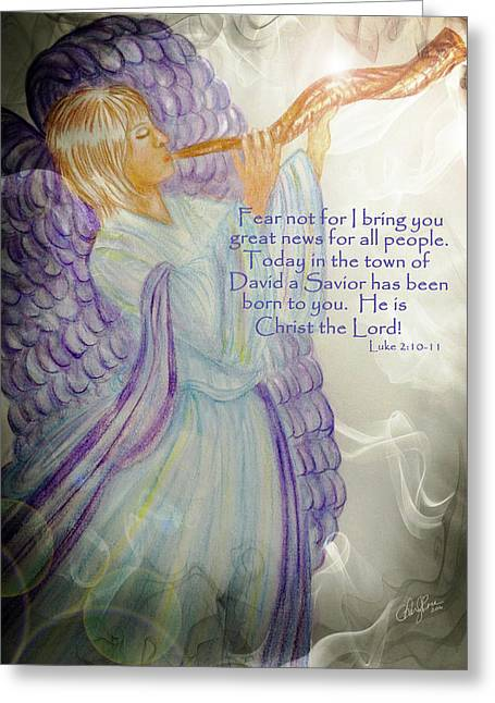 Angel Announcement Greeting Card by Cheryl Rose