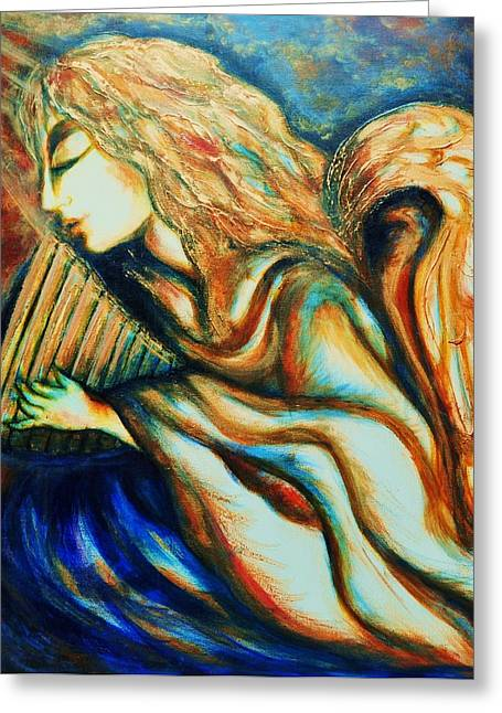 Greeting Card featuring the greeting card Angel Awakening by Rae Chichilnitsky