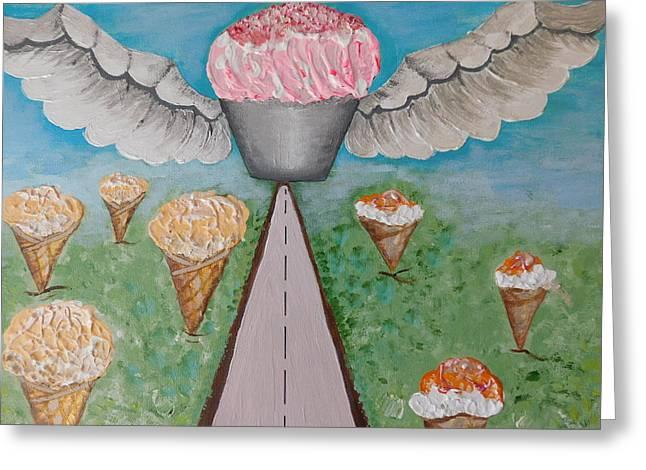 Angel Cake Greeting Card by Susan Wooler