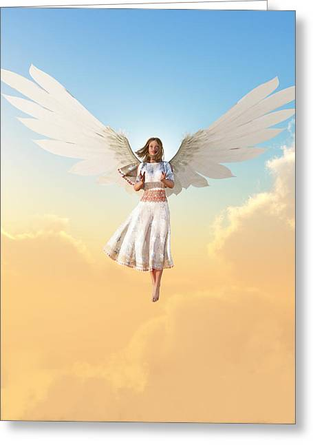 Angel Greeting Card by Christian Art