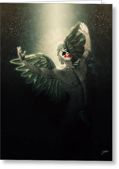 Angel Del Infierno Greeting Card