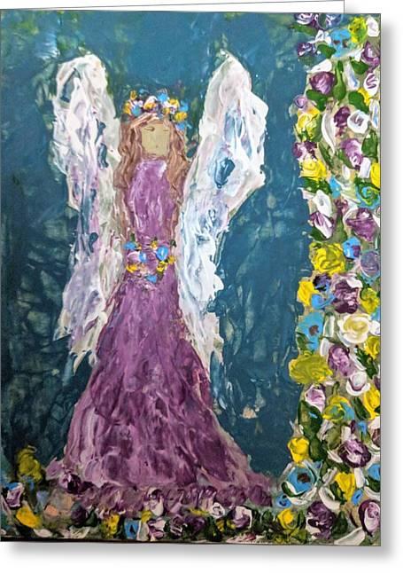 Angel Diva Greeting Card