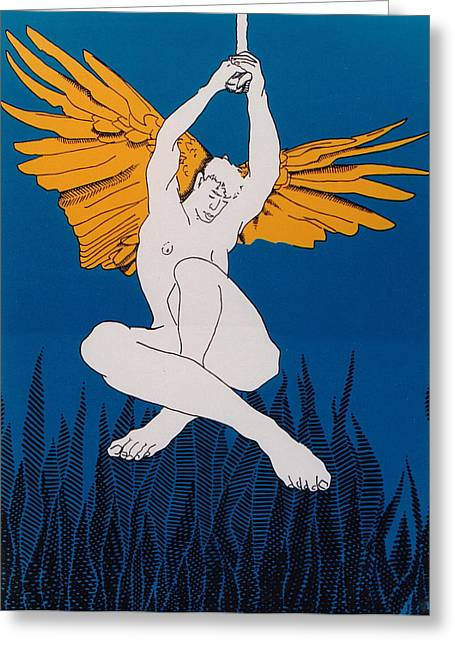 Angel Greeting Card by E Gibbons