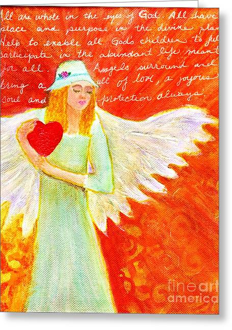 Angel For The Mentally Challenged Greeting Card