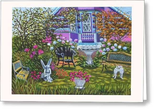 Angel Garden In Ocean Grove Greeting Card