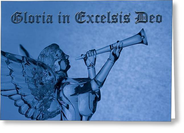 Greeting Card featuring the photograph Angel Gloria In Excelsis Deo by Denise Beverly