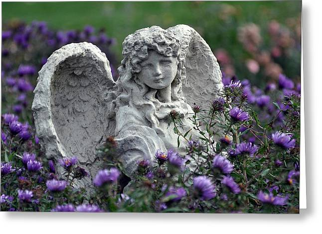 Angel Greeting Card by Gwen Allen