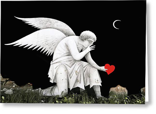 Angel Heart Greeting Card