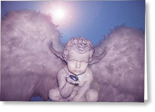 Angel-heart Greeting Card by Ramon Labusch