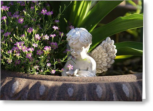 Greeting Card featuring the photograph Angel by Heidi Poulin