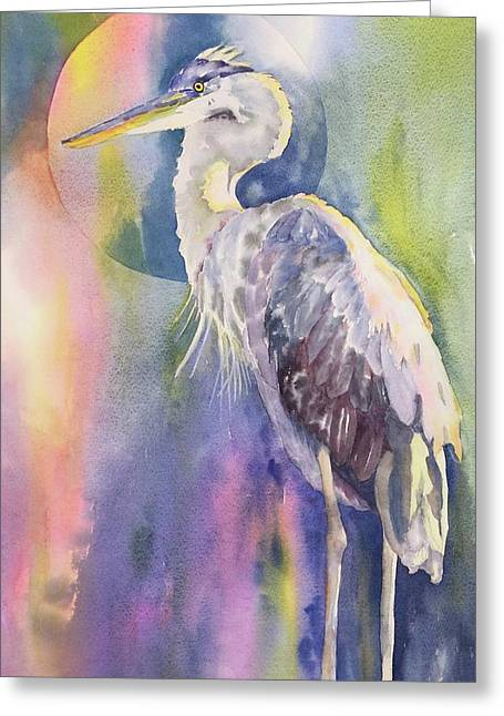 Angel Heron Greeting Card