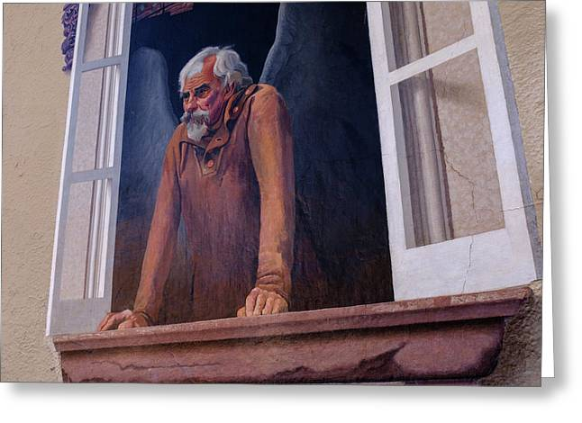 Angel In A Window In Frederick Maryland Greeting Card