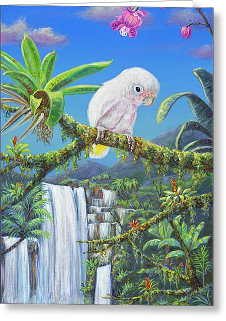 Angel In Paradise Greeting Card by Danielle Perry