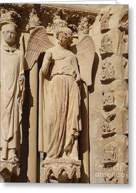 Angel In Reims Greeting Card