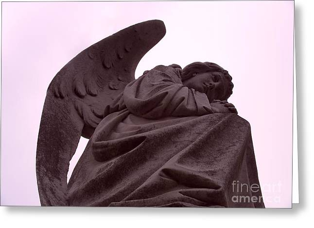 Greeting Card featuring the photograph Angel In Repose by Cynthia Marcopulos