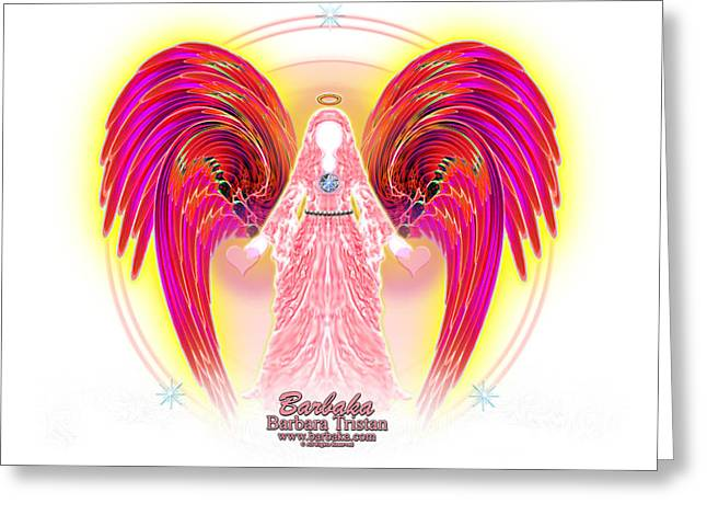 Angel Intentions Divine Timing Greeting Card
